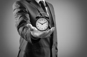 Clock in hand